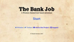 The Bank Job - A Western-themed text-based adventure
