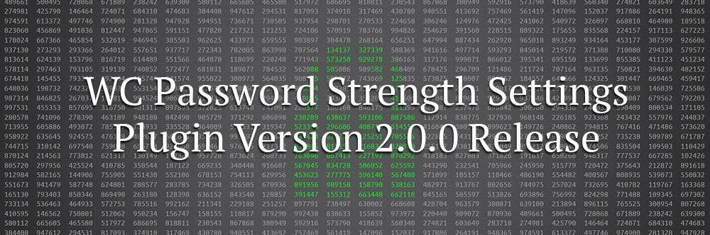 WC Password Strength Settings 2.0 Banner