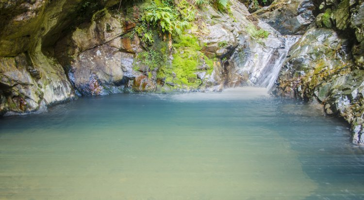 One of the pools of Blue Lagoon in Bontoc, Mountain Province.