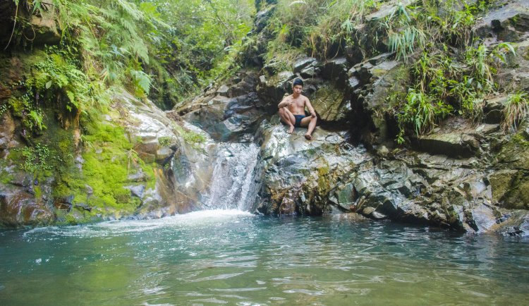 One of the pools of Blue Lagoon Bontoc, Mountain Province.
