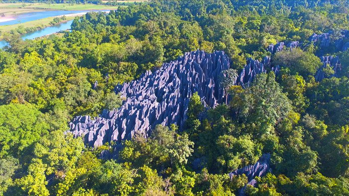 Dupag Rock Formation in Luna. One of the tourist spots in Apayao.