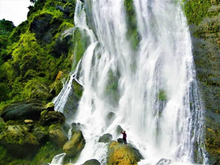 Tekip Falls in Bakun. One of the tourist spots of Benguet.