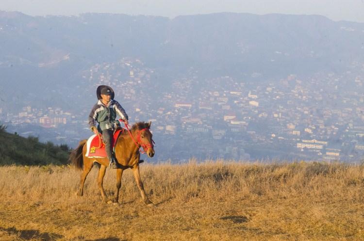 Horse riding atop Mt Yangbew, La Trinidad, Benguet