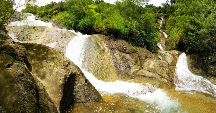 Sapilang falls of Bangued. One of the tourist spots of Abra.