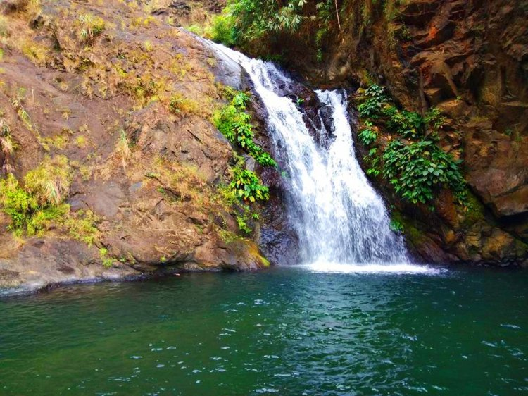 The first fall before the main Badi falls in Kapangan, Benguet.