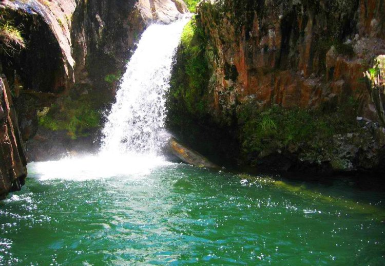 Bumayyeng Falls. One of the tourist spots in Sagada.