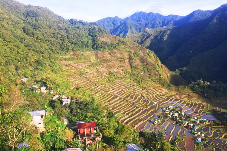 Batad Rice Terraces near Tappiya Falls in Batad, Banaue, Ifugao