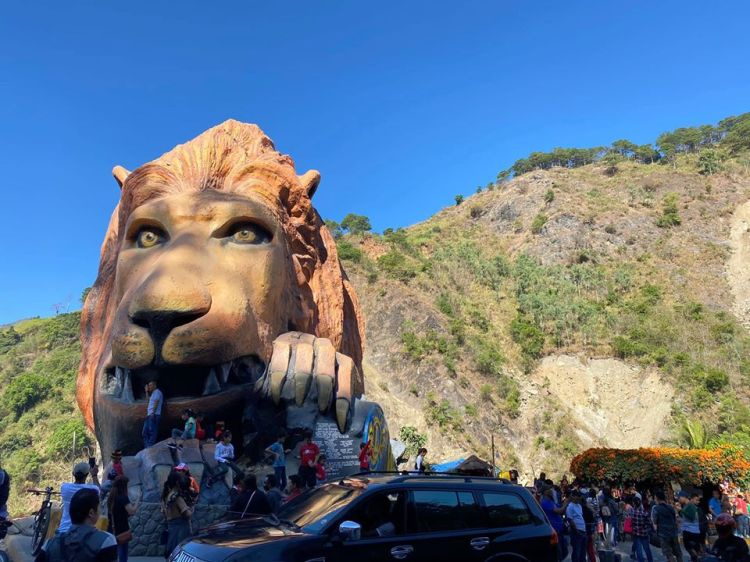 Behold the latest view of Lions head Baguio
