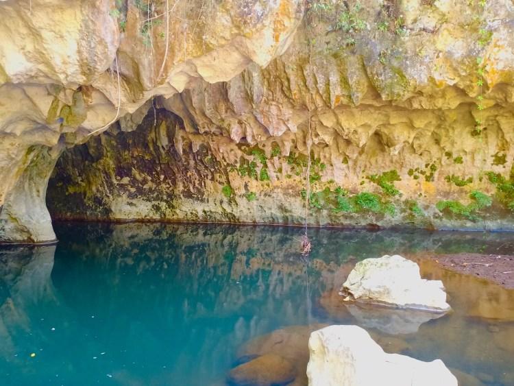 A blue lagoon near Sagada Underground River