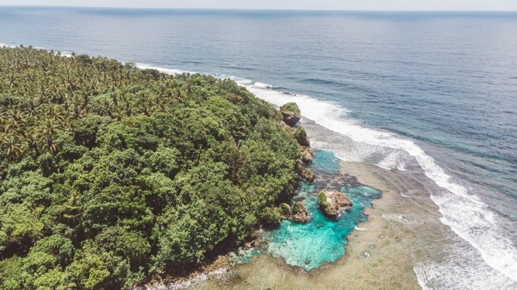 Magpupungko Tidal Pool is one of the tourist spots in Surigao Del Norte
