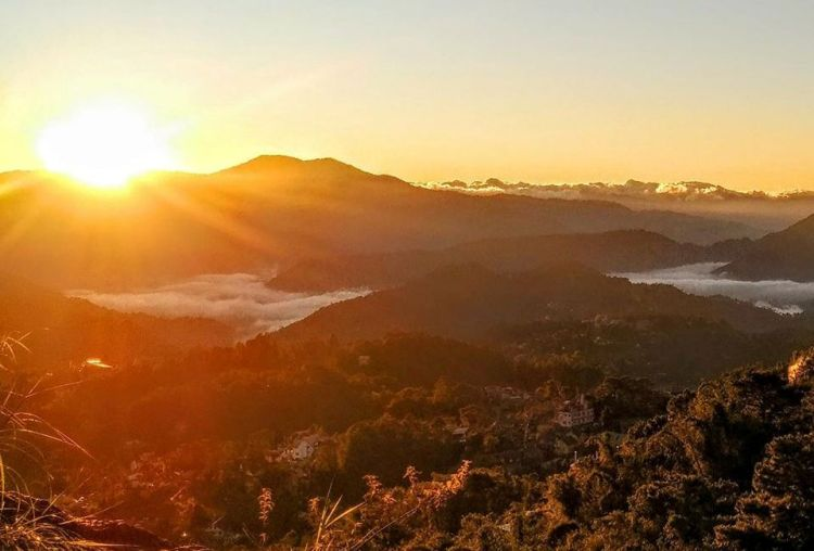 Sunrise as seen from Mines View Park Baguio City