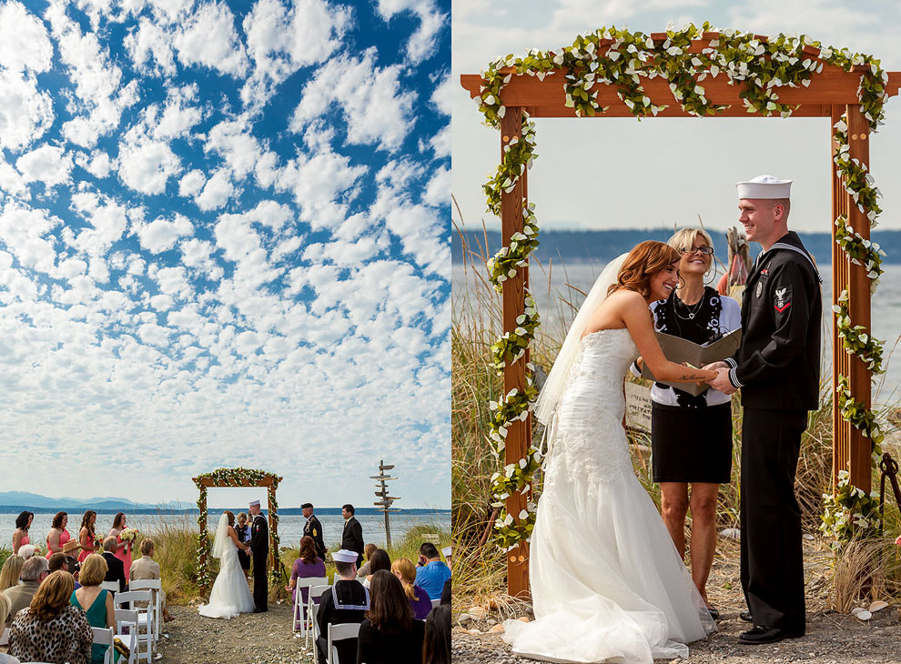 Wedding on Whidbey Island by a Seattle wedding photographer