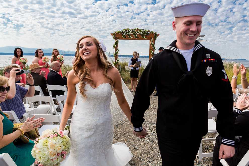 Navy Wedding on Whidbey Island by a Seattle wedding photographer