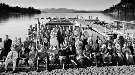 Wedding Panoramic Portrait at Priest Lake Idaho