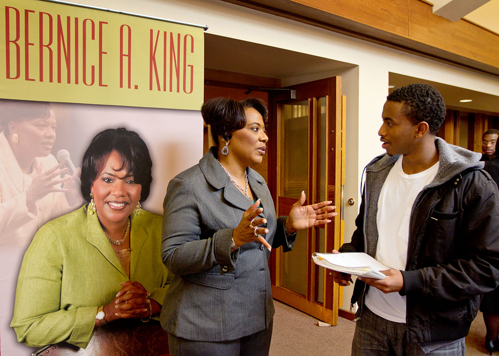 Reverend Bernice King speaking at SPU