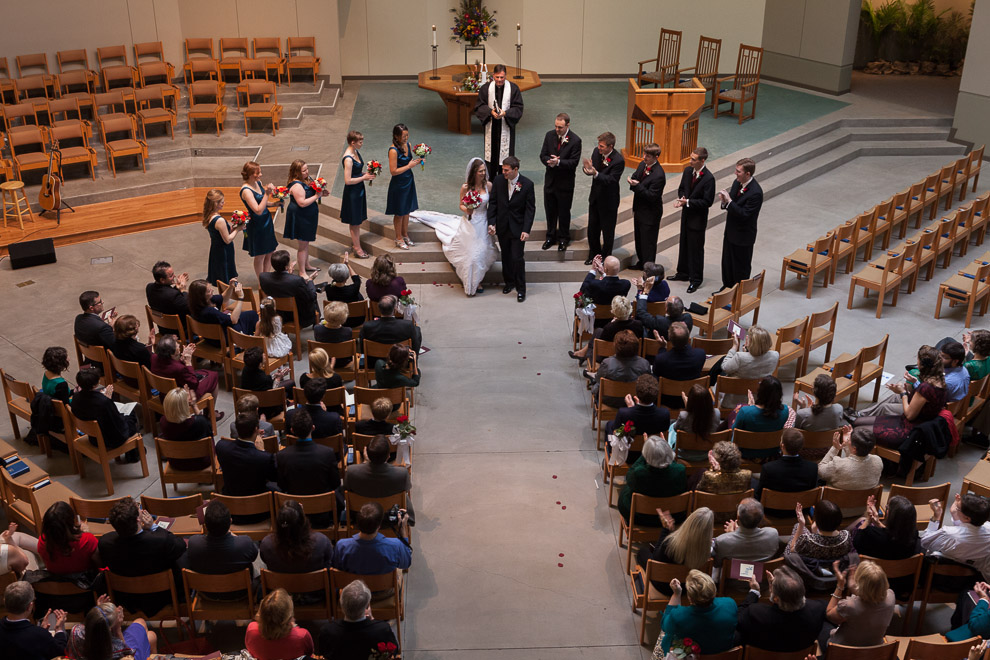 Wedding at The First Presbyterian Church of Bellevue, WA