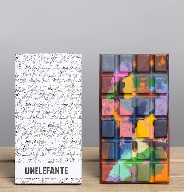 Edible modern art: Chocolate bars that look like colourful paintings