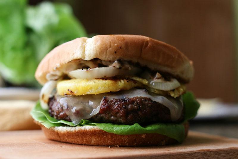 Hawaiian hamburger topping combinations