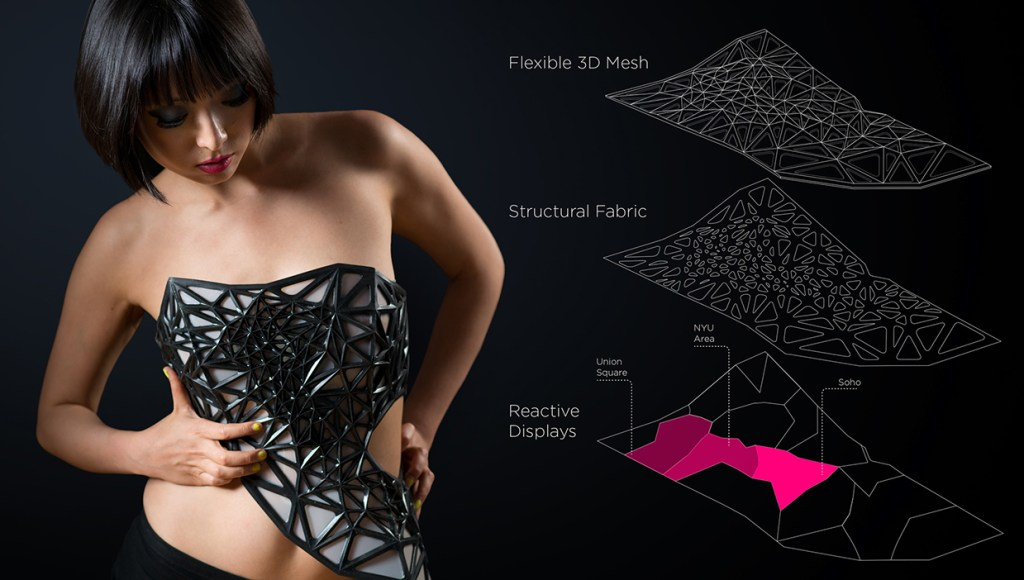 Dress becomes transparent the more you share info online