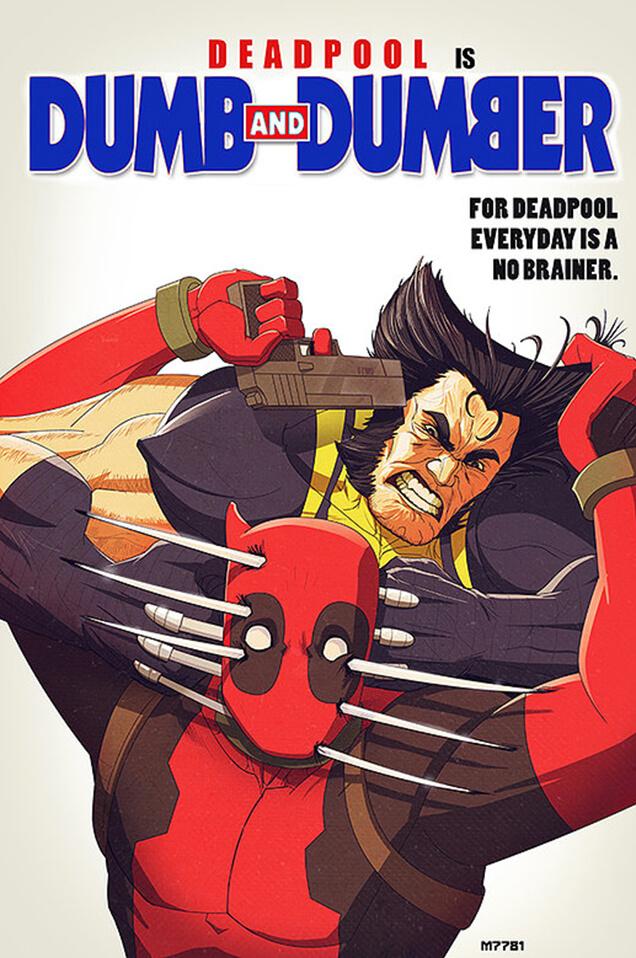 Superhero mashup: Dumb & Dumber and Deadpool and Wolverine