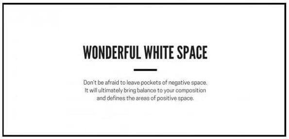 Useful graphic design tips for non-designers: White Space