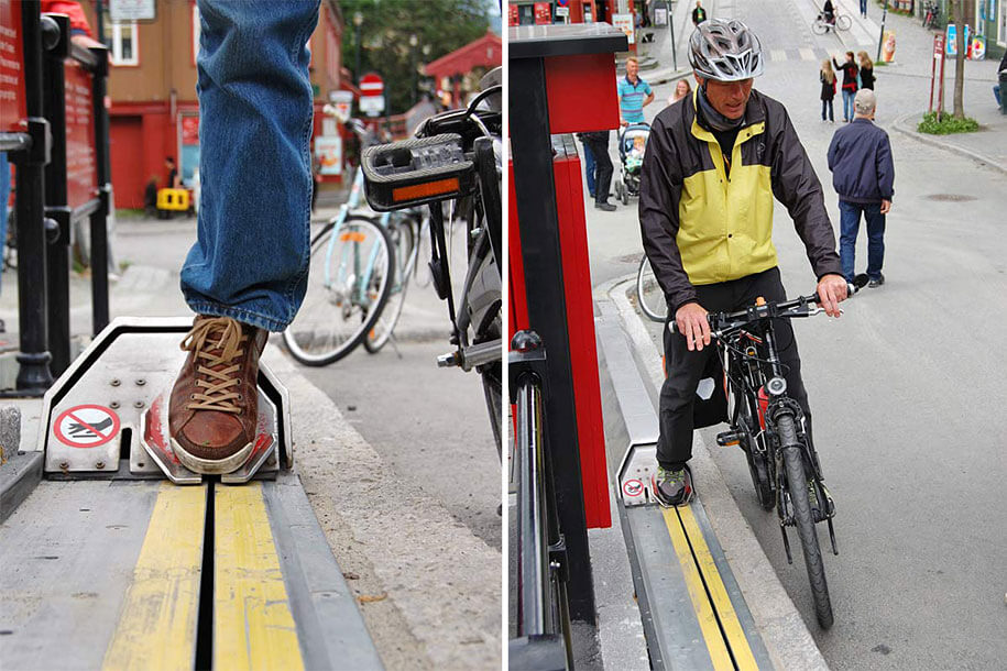 Conquer the hills of Norway with their ingenious bicycle lift