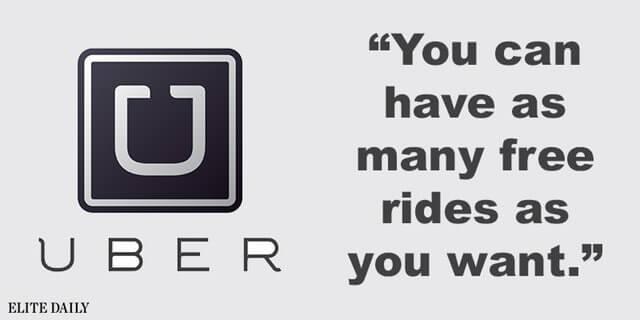 Uber app pick-up lines