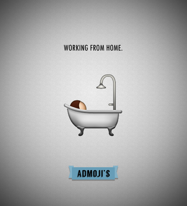 Admojis: Working from home