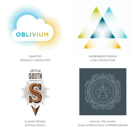Emerging logo design trends: Rays