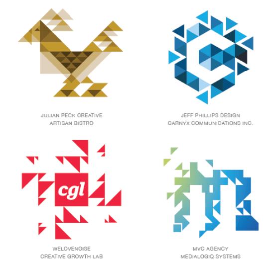Emerging logo design trends: Trixelate