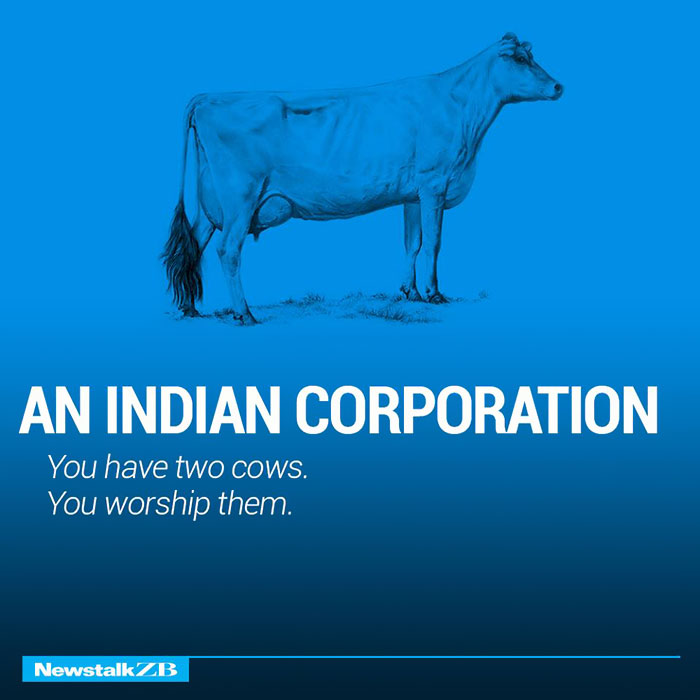 An Indian Corporation: You have 2 cows