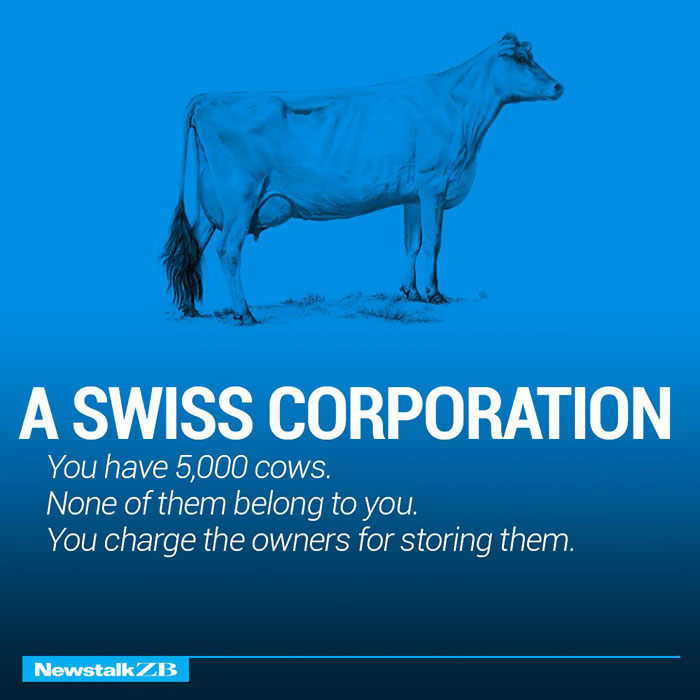 A Swiss Corporation: You have 2 cows