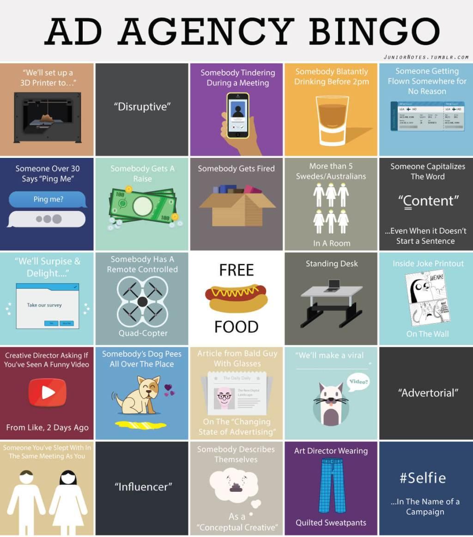 Ad Agency Bingo Card