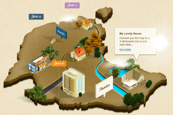 Free Photoshop Actions: 3D Map