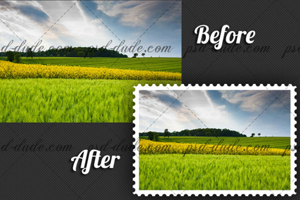 Free Photoshop Actions: Stamp Generator