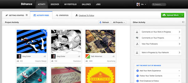 Use social media and sites like Behance to link to your portfolio website