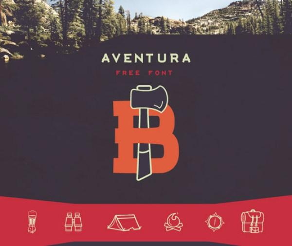 free-typeface-aventura