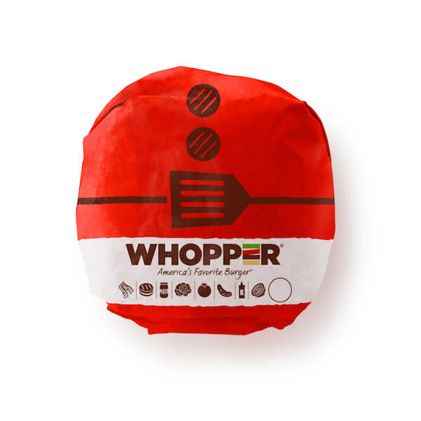 Burger King Illustrated Christmas Sandwich Wrap