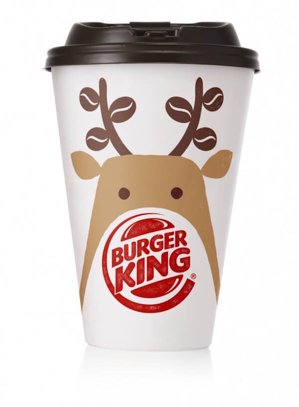 Burger King Illustrated Christmas Coffee Cup
