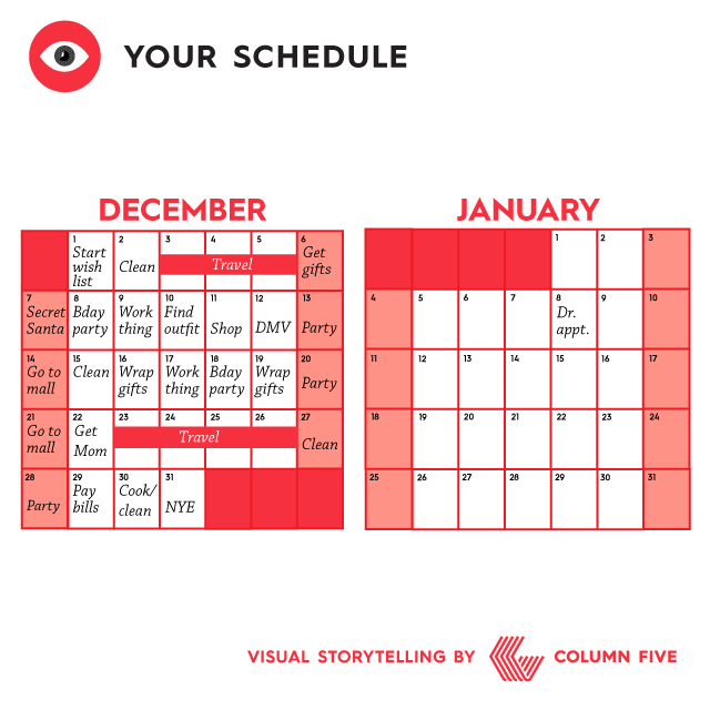 Everyday life chart: Your schedule