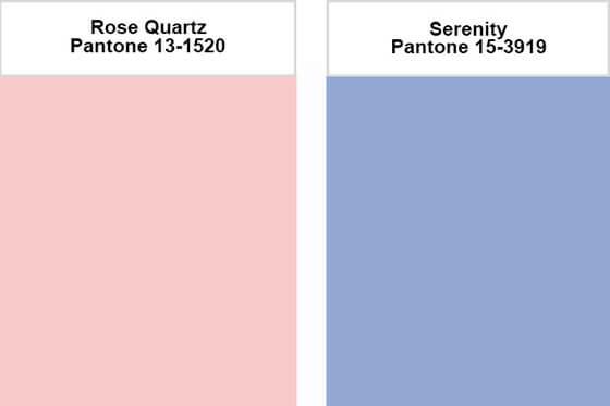 2016 Pantone Colours of the Year: Rose Quartz & Serenity