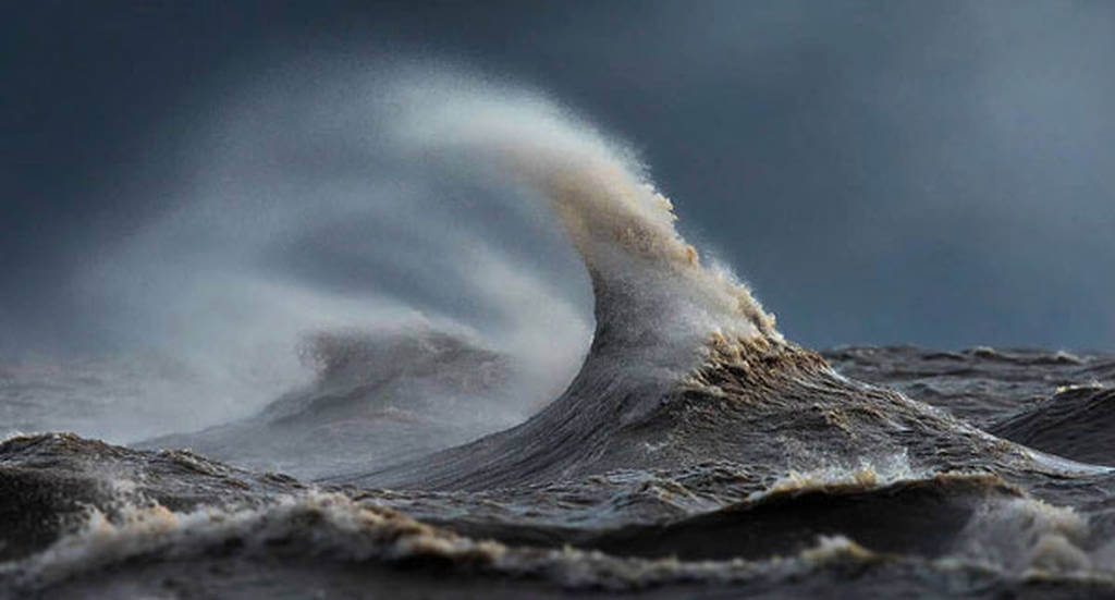 Lake Erie's liquid mountains photographed by Dave Sandford