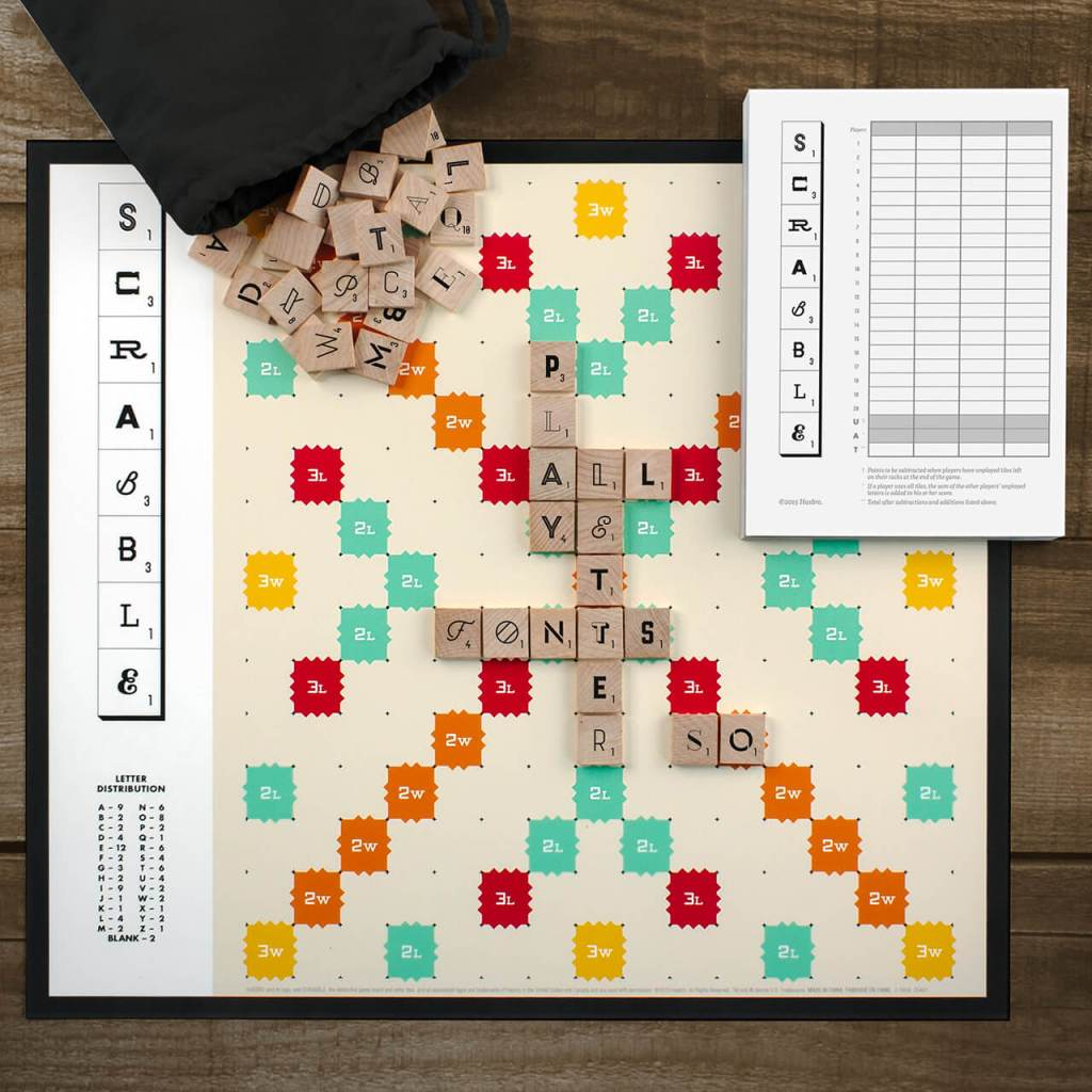 Play Scrabble Typography