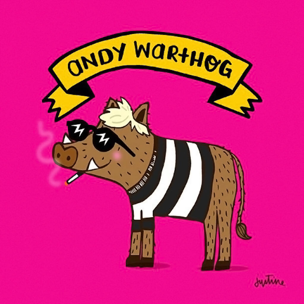 Andy Warthog by Justine Morrison