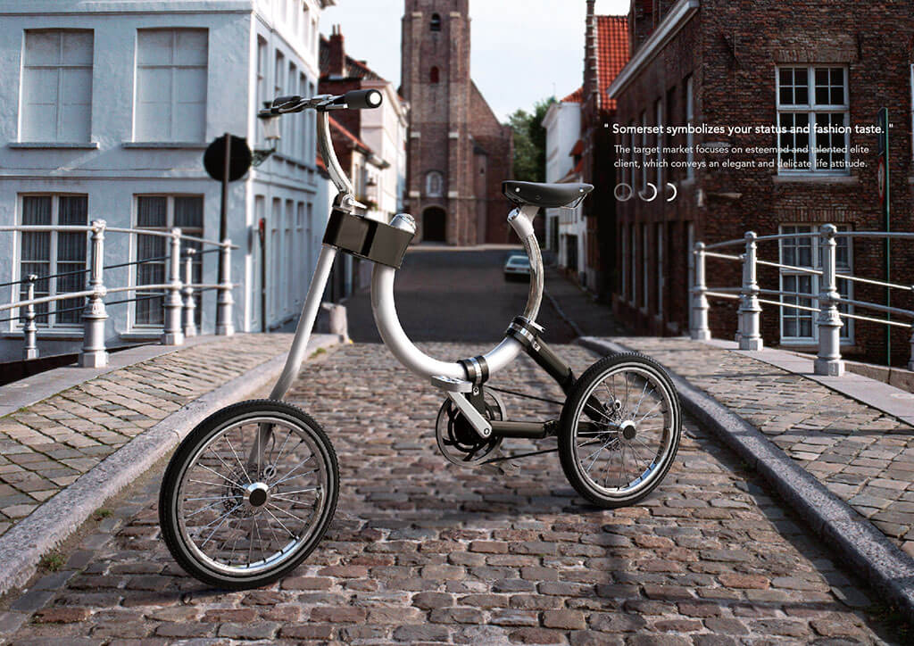 Stylish Somerset bicycle can transform into a handcart