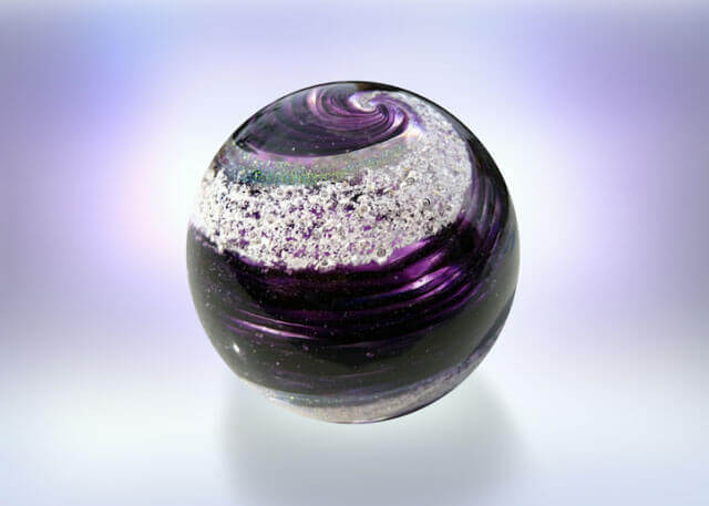 Artful Ashes stained glass orbs