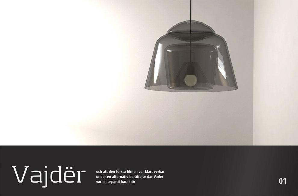 Darth Vader lighting fixture
