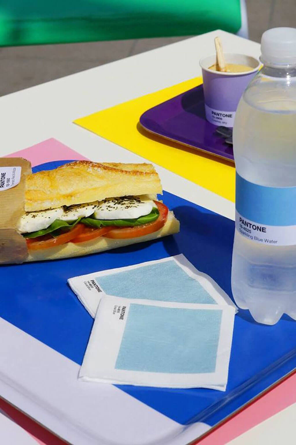 Pantone colour coordinated food and design