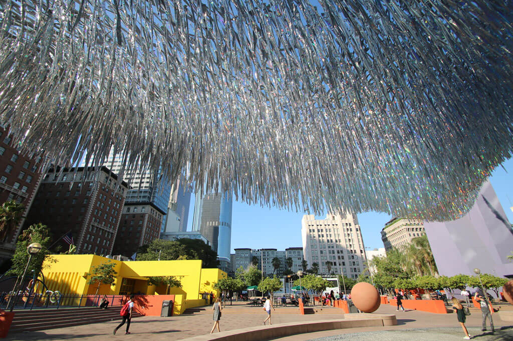 Kinetic sculpture moves with the wind