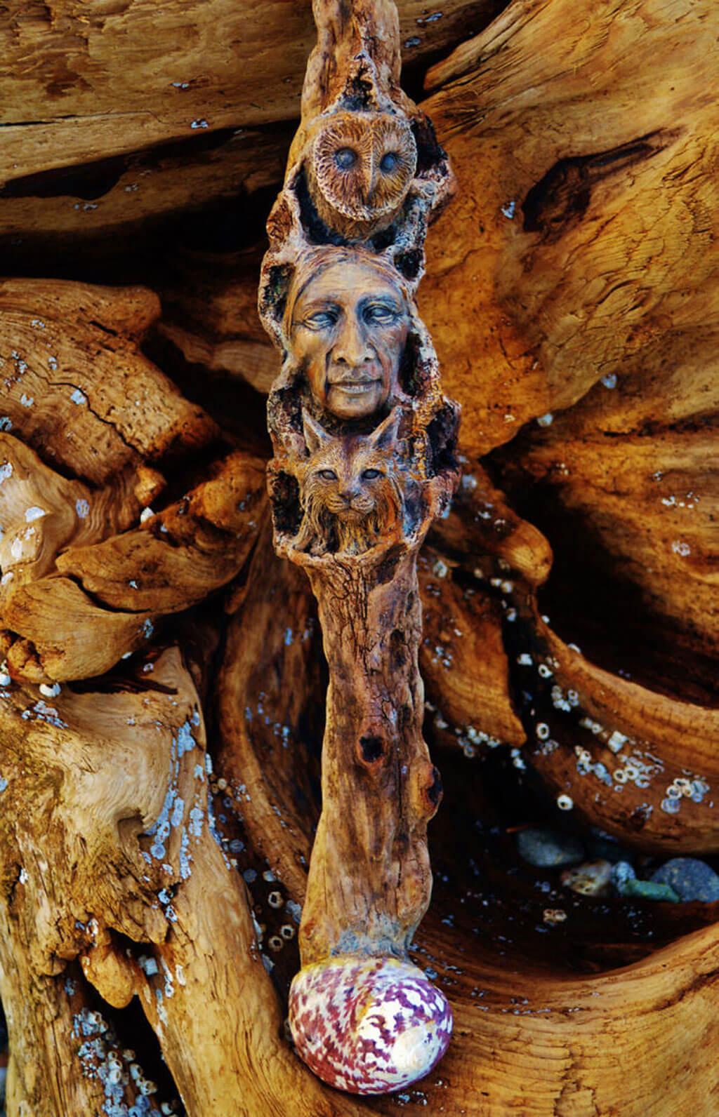 Debra Bernier driftwood sculpture